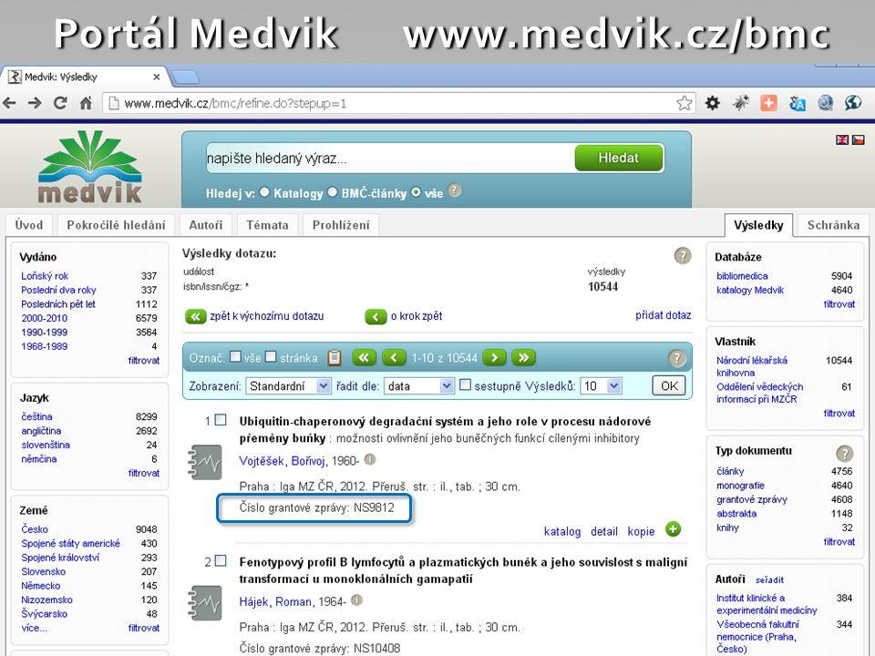 Využití identifikátorů 4 608 závěr.grant. zpráv IGA ve fondu NLK zpráva + přílohy (= kopie publik.