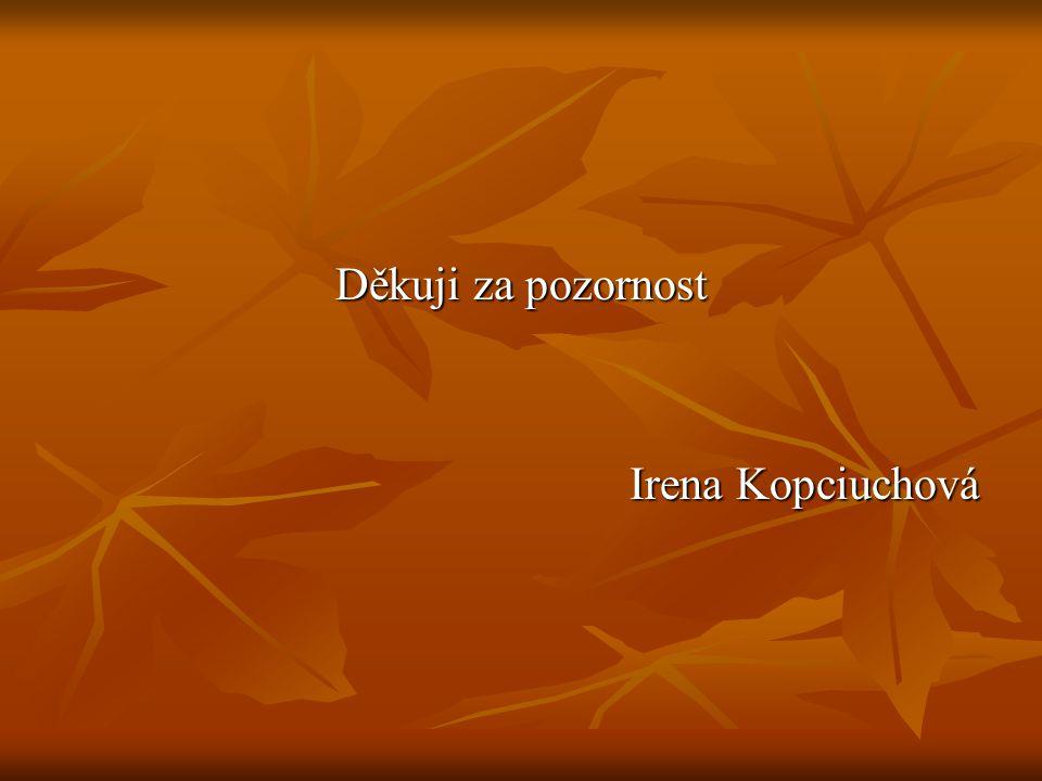 Děkuji za pozornost Irena Kopciuchová