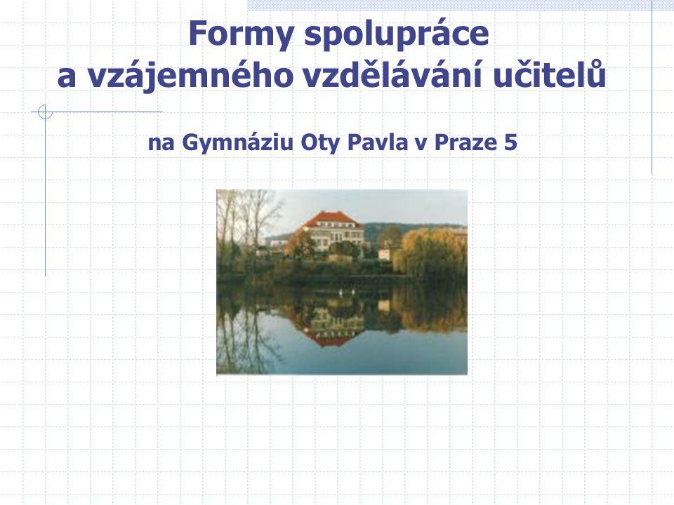 Formy spolupráce a vzájemného vzdělávání učitelů na Gymnáziu Oty Pavla v Praze 5