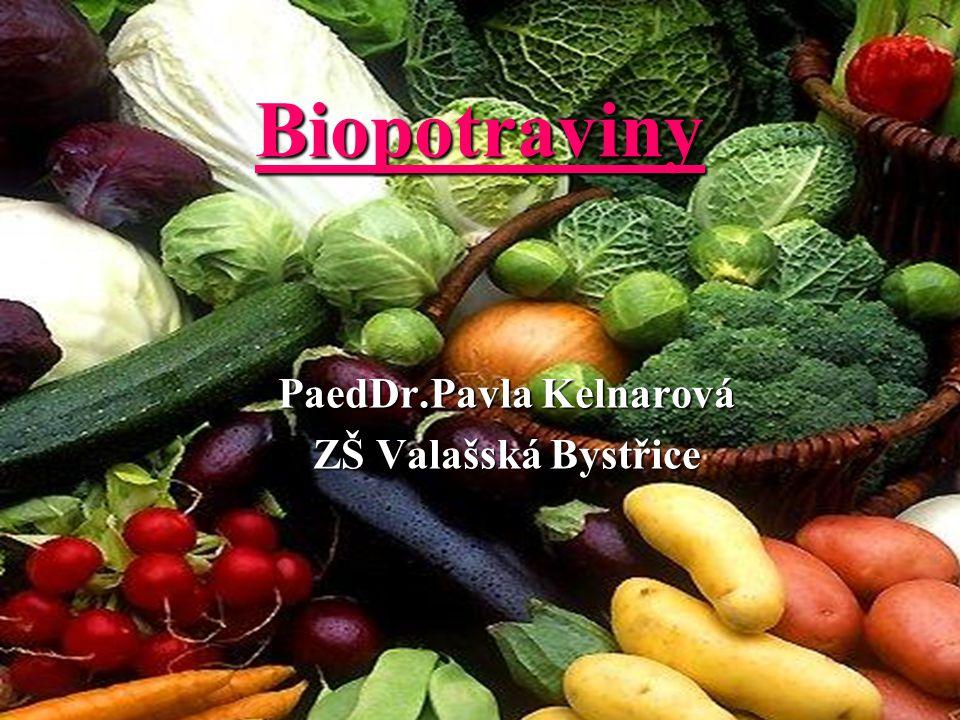 Biopotraviny PaedDr.Pavla Kelnarová PaedDr.Pavla Kelnarová ZŠ Valašská Bystřice ZŠ Valašská Bystřice