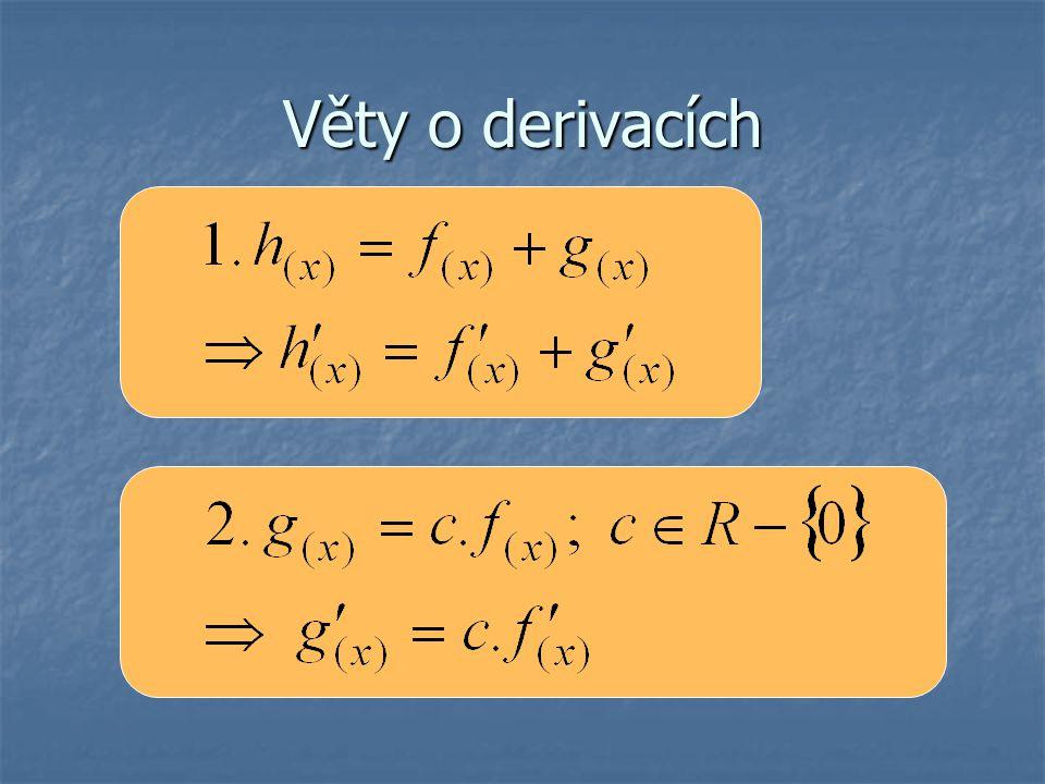 Věty o derivacích