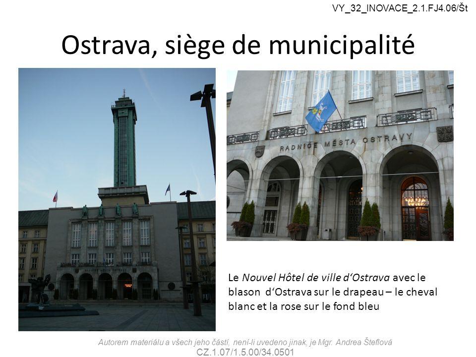 Théâtres d'Ostrava VY_32_INOVACE_2.1.FJ4.06/Št Autorem materiálu a všech jeho částí, není-li uvedeno jinak, je Mgr.
