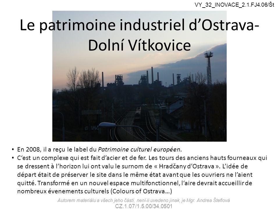 Églises d'Ostrava VY_32_INOVACE_2.1.FJ4.06/Št Autorem materiálu a všech jeho částí, není-li uvedeno jinak, je Mgr.