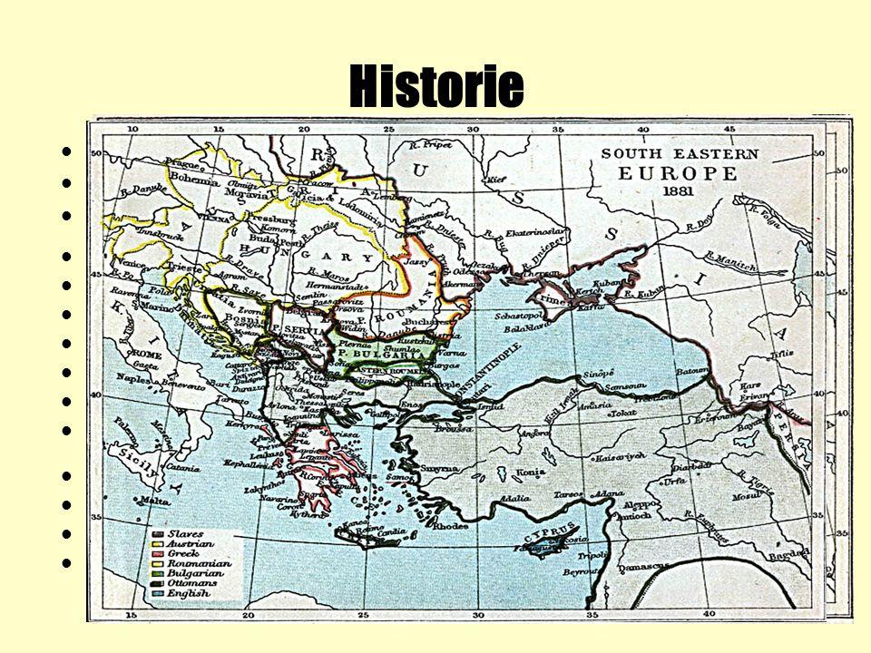 Historie doba bronzová-Thrákové 4.st.př.Kr.-Makedonci 681-1018-první království-zakladatelem Asparuch 10.st.-rozvoj feudalismu, vznik nevolnictví 1018