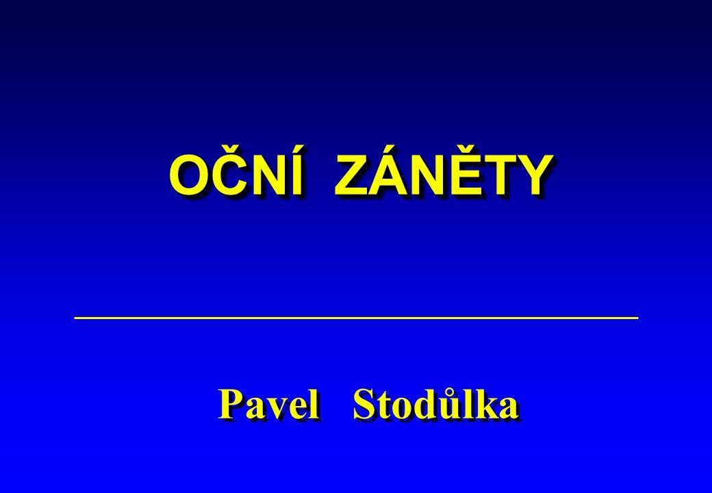 OČNÍ ZÁNĚTY Pavel Stodůlka