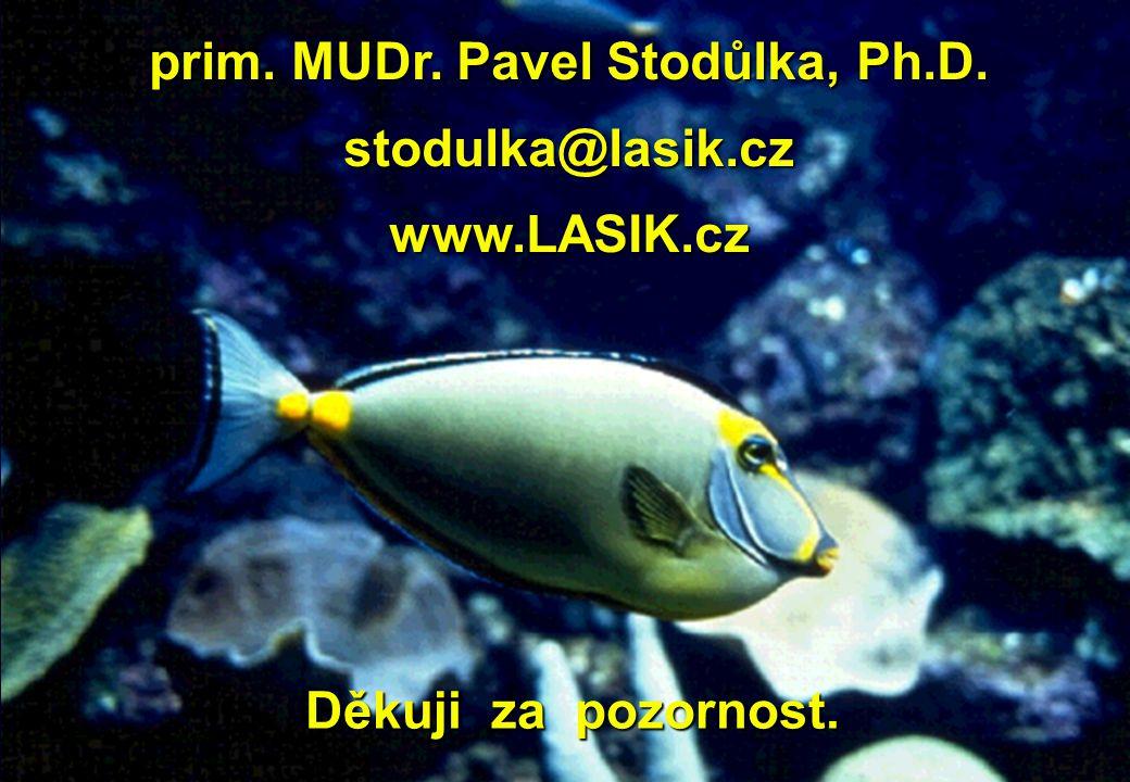 Děkuji za pozornost. Děkuji za pozornost. prim. MUDr. Pavel Stodůlka, Ph.D. stodulka@lasik.cz www.LASIK.cz