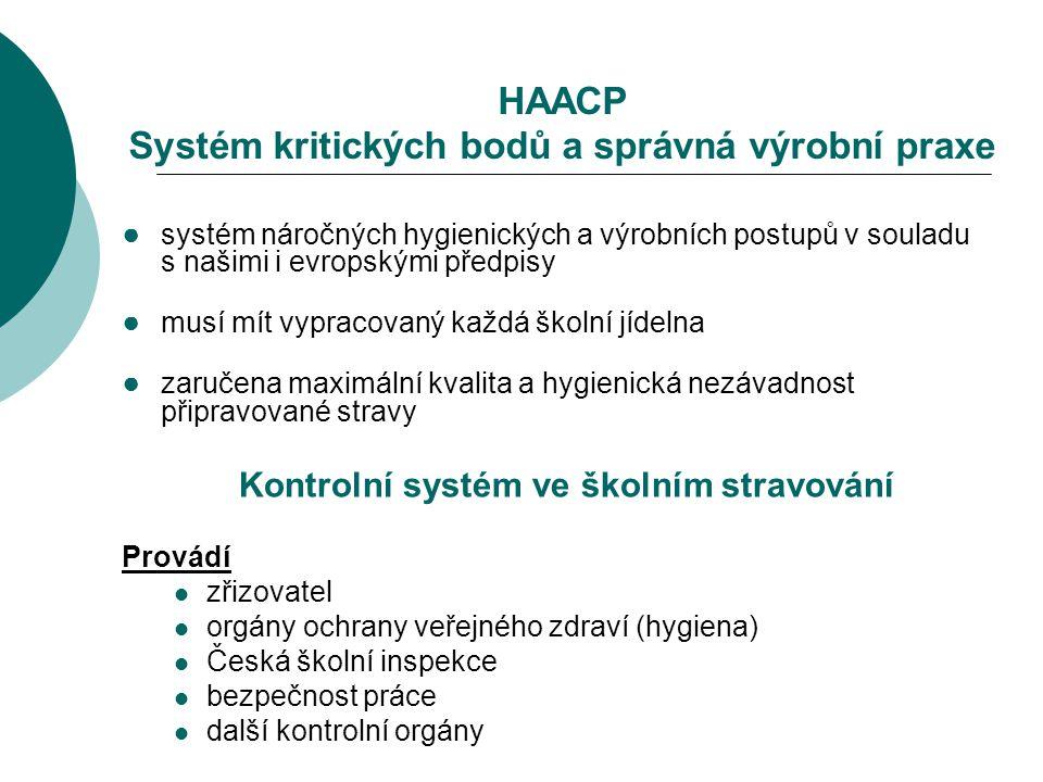 HAACP Systém kritických bodů a správná výrobní praxe ● systém náročných hygienických a výrobních postupů v souladu s našimi i evropskými předpisy ● mu