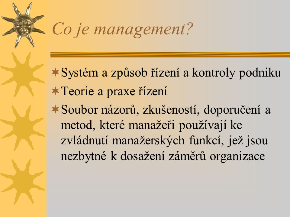 Co je management.