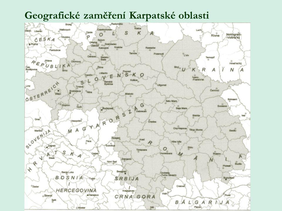 Geografické zaměření Karpatské oblasti