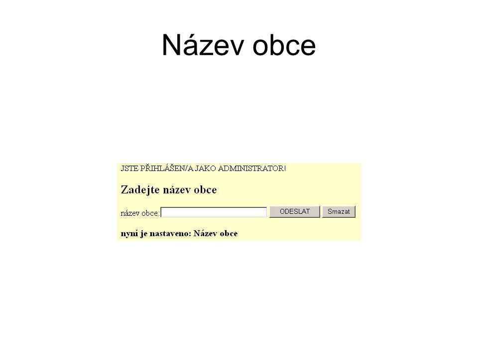 Název obce