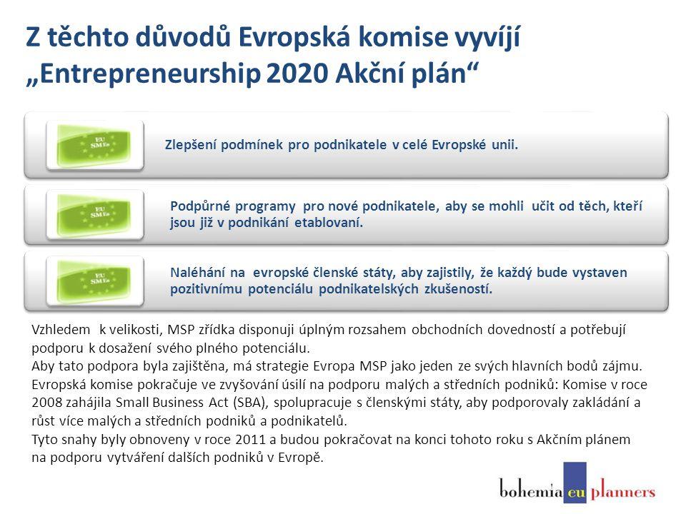 """Z těchto důvodů Evropská komise vyvíjí """"Entrepreneurship 2020 Akční plán Zlepšení podmínek pro podnikatele v celé Evropské unii."""