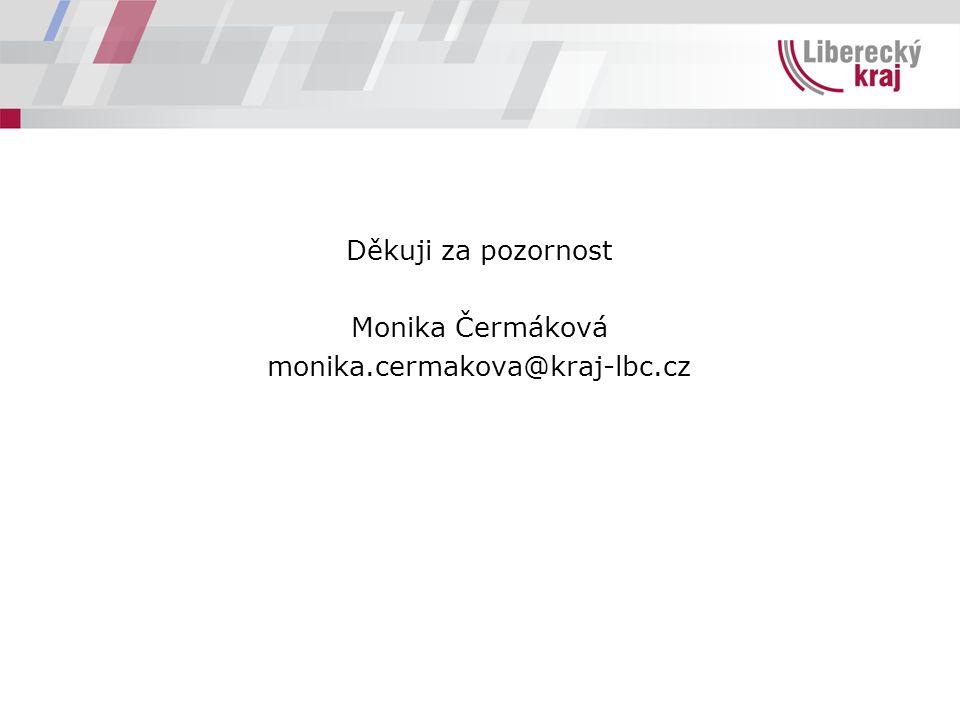 Děkuji za pozornost Monika Čermáková monika.cermakova@kraj-lbc.cz