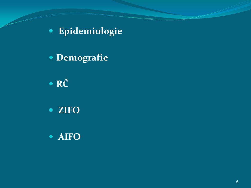 Epidemiologie Demografie RČ ZIFO AIFO 6