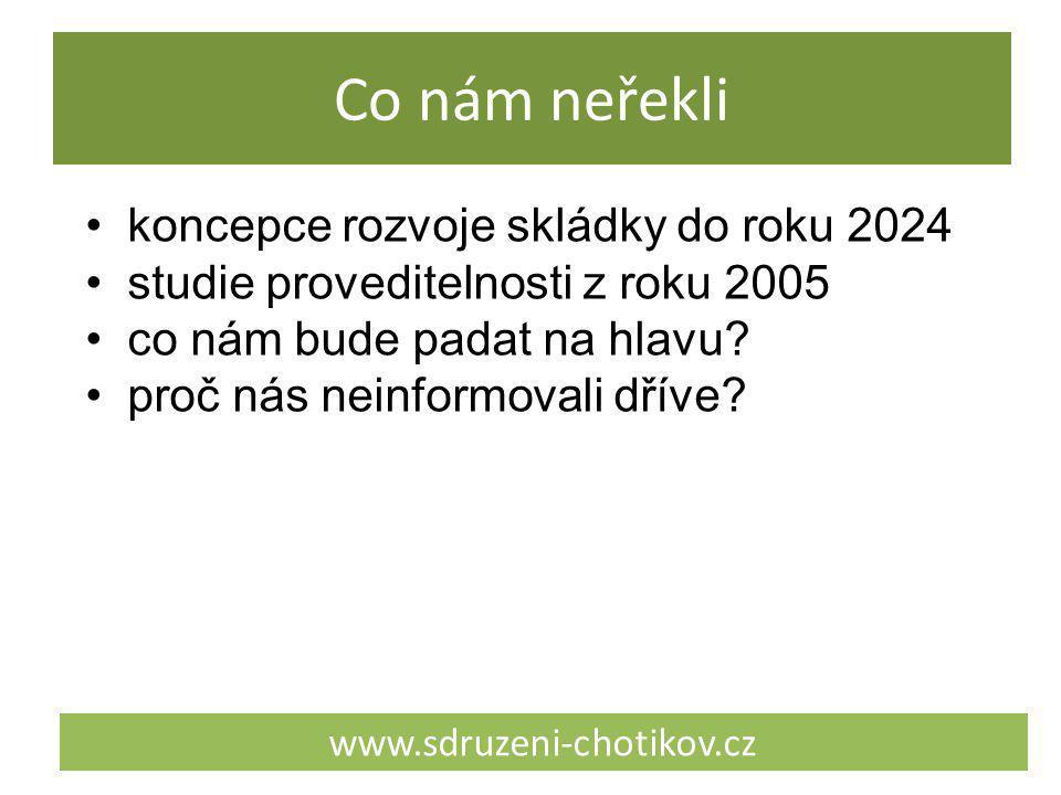 Co nám neřekli www.sdruzeni-chotikov.cz koncepce rozvoje skládky do roku 2024 studie proveditelnosti z roku 2005 co nám bude padat na hlavu? proč nás