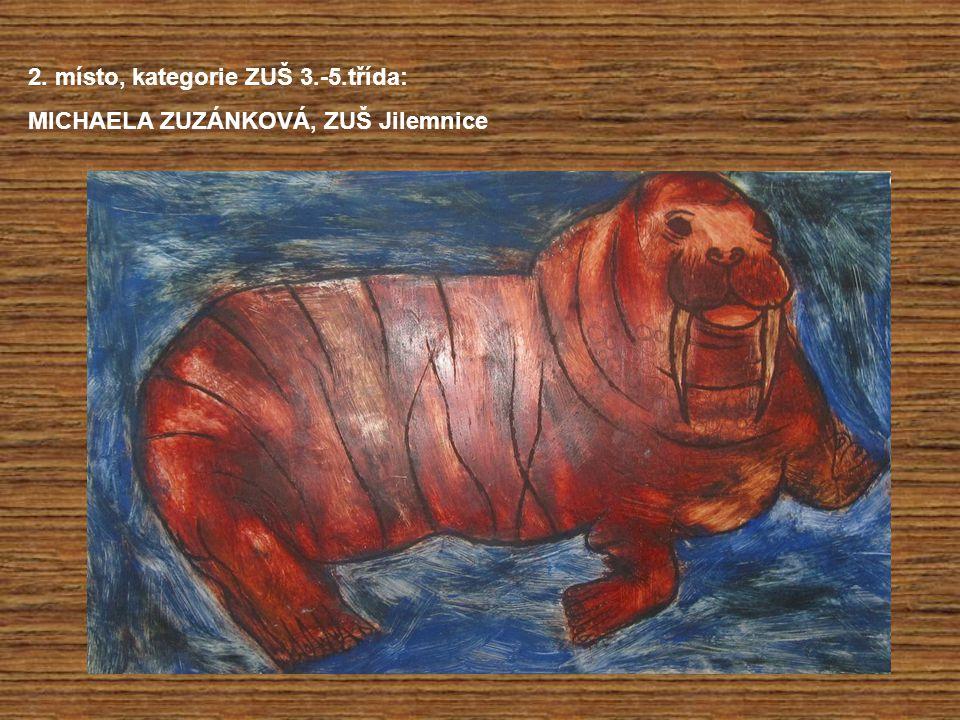 2. místo, kategorie ZUŠ 3.-5.třída: MICHAELA ZUZÁNKOVÁ, ZUŠ Jilemnice