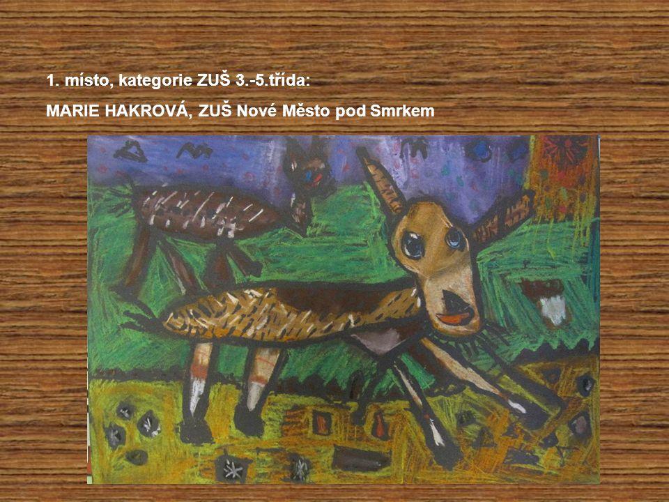 1. místo, kategorie ZUŠ 3.-5.třída: MARIE HAKROVÁ, ZUŠ Nové Město pod Smrkem