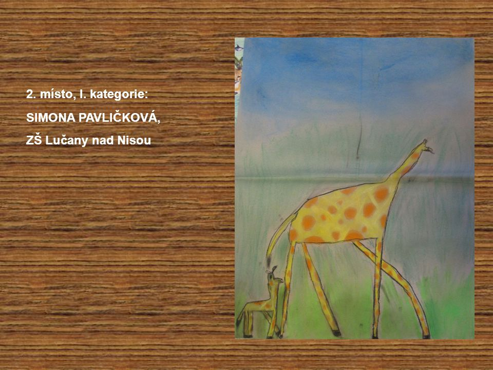 1.místo, I. kategorie: ELIŠKA SLOVÁČKOVÁ, ZUŠ Nové Město pod Smrkem
