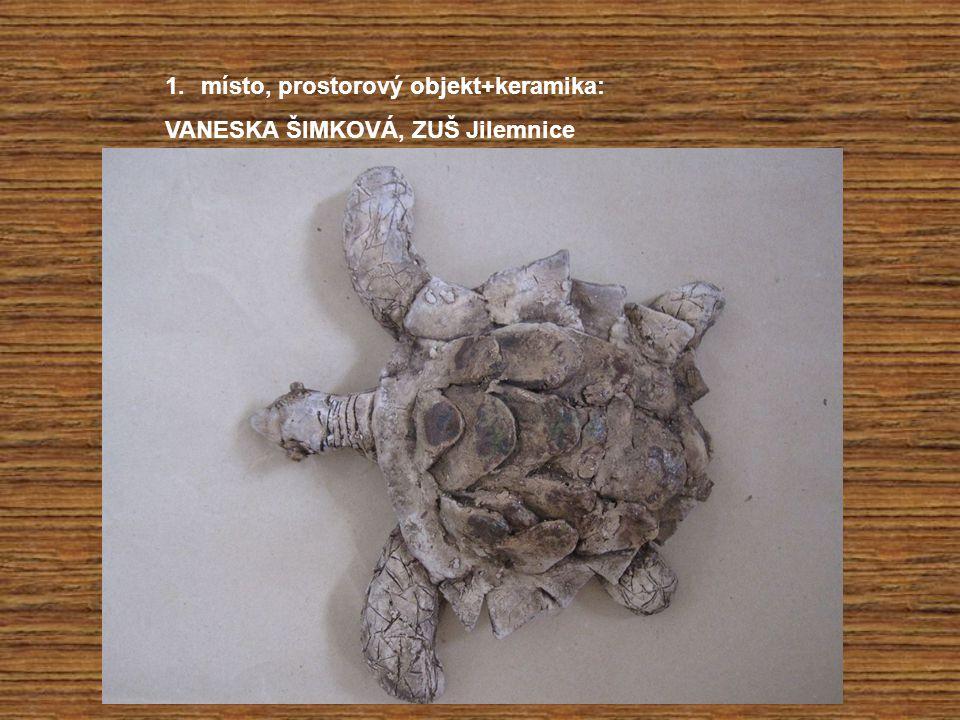 1.místo, prostorový objekt+keramika: VANESKA ŠIMKOVÁ, ZUŠ Jilemnice