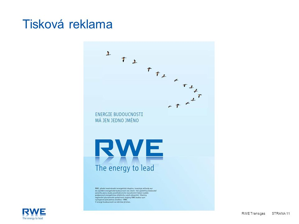 RWE TransgasSTRANA 11 Tisková reklama