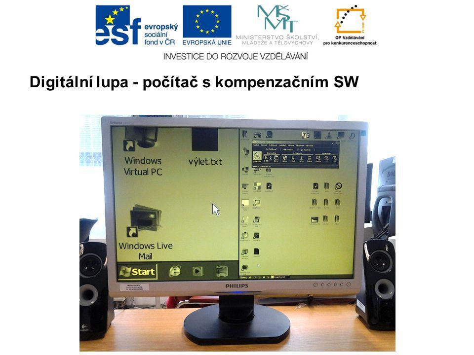 Digitální lupa - počítač s kompenzačním SW
