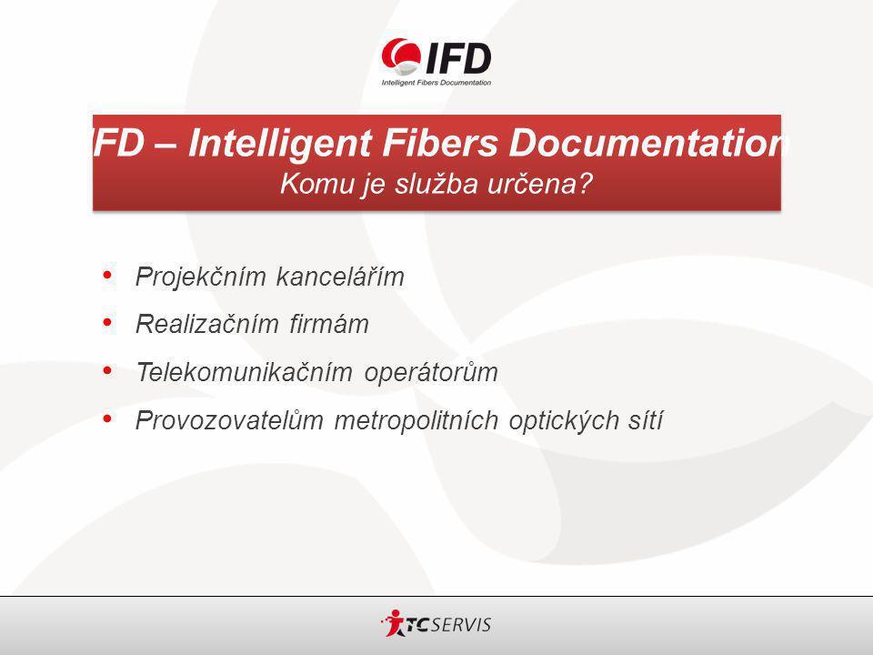 IFD – Intelligent Fibers Documentation ISP V uživatelském menu ISP se provádí následující operace Konfigurace rozvaděčů Konfigurace příslušenství Vyvaření kabelů přicházejících do rozvaděče Propojení uvnitř budovy Generování reportů