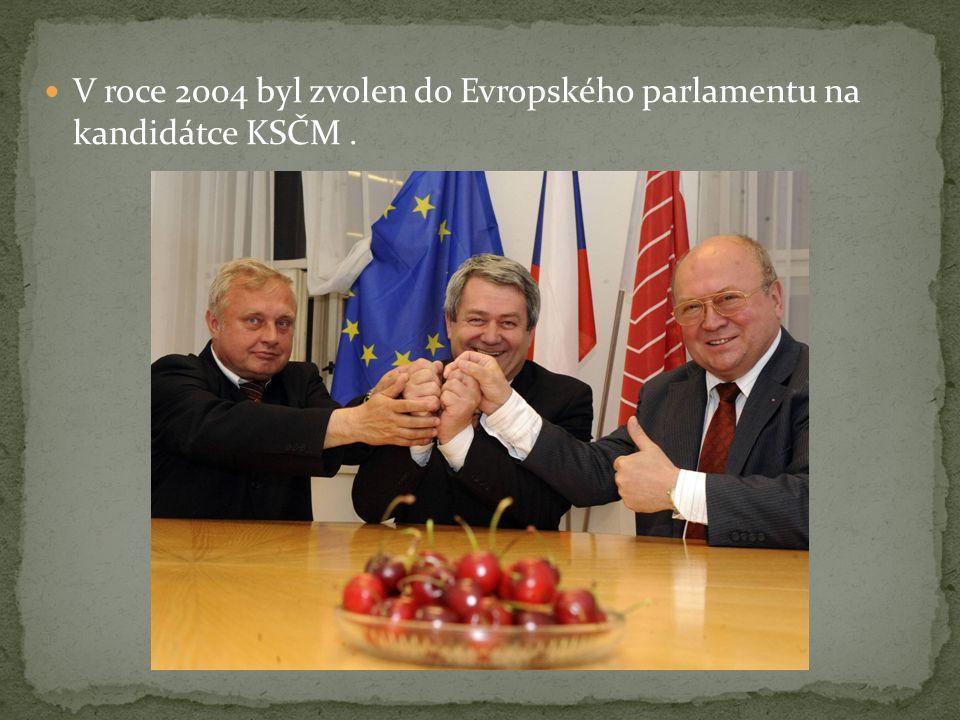 V roce 2004 byl zvolen do Evropského parlamentu na kandidátce KSČM.