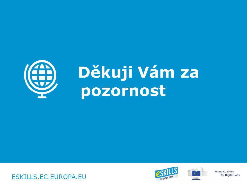 ESKILLS.EC.EUROPA.EU Děkuji Vám za pozornost