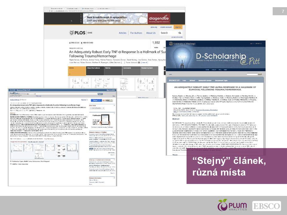 8 Články Blogové příspěvky Kapitoly knih Knihy Případové studie Klinické testy Sborníky z konferencí Datové soubory Výpočty Granty Rozhovory Dopisy Sdělovací prostředky Patentová dokumentace Plakáty Prezentace Reporty Zdrojové kódy Dizertace Videa Webové stránky Sledování NEJEN článků…
