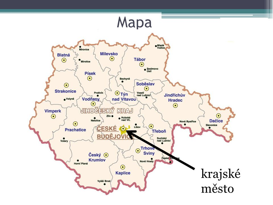 Mapa krajské město