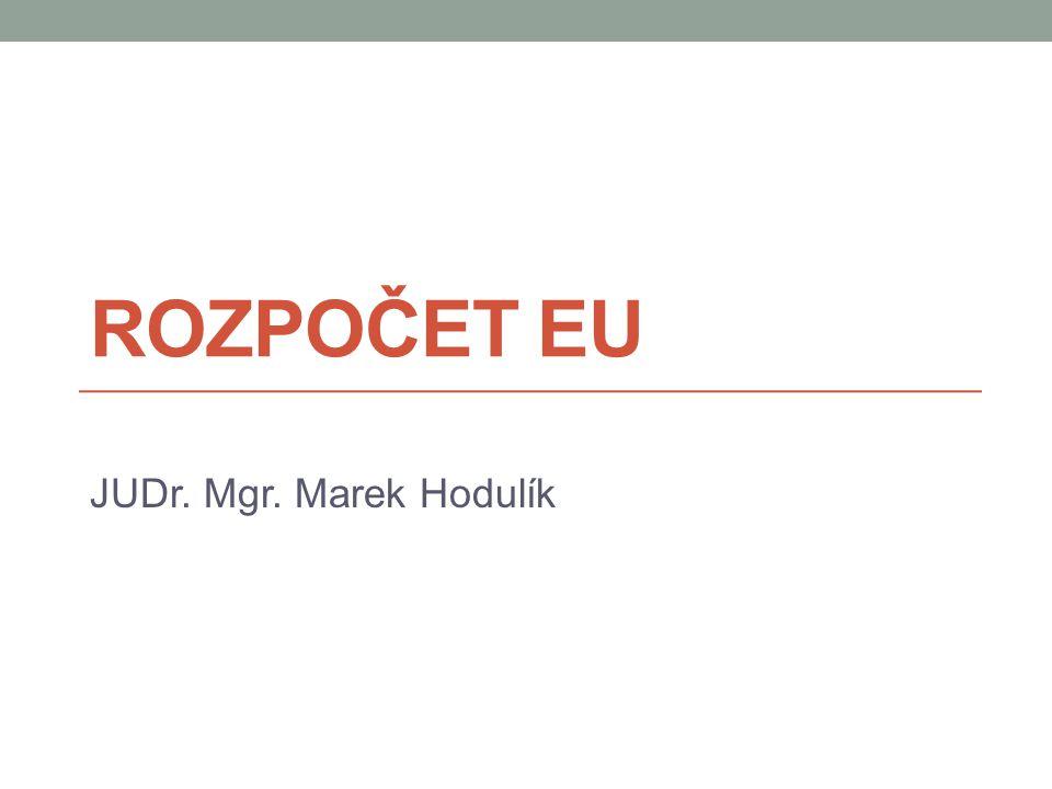 Zdroje rozpočtu EU I  Na jednoho obyvatele EU připadá cca 244 EUR na rozpočet EU = 1% HDP EU, 142 mld.