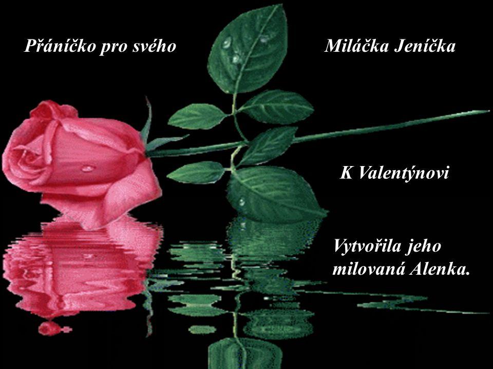 Přáníčko pro svéhoMiláčka Jeníčka Vytvořila jeho milovaná Alenka. K Valentýnovi ….