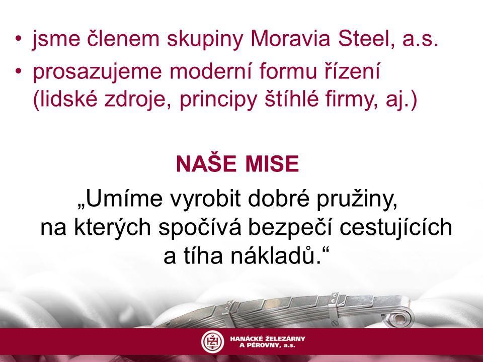 jsme členem skupiny Moravia Steel, a.s.
