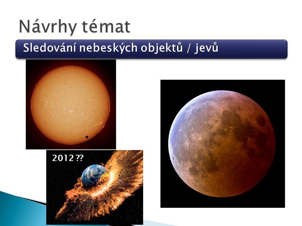 Sledování nebeských objektů / jevů 2012