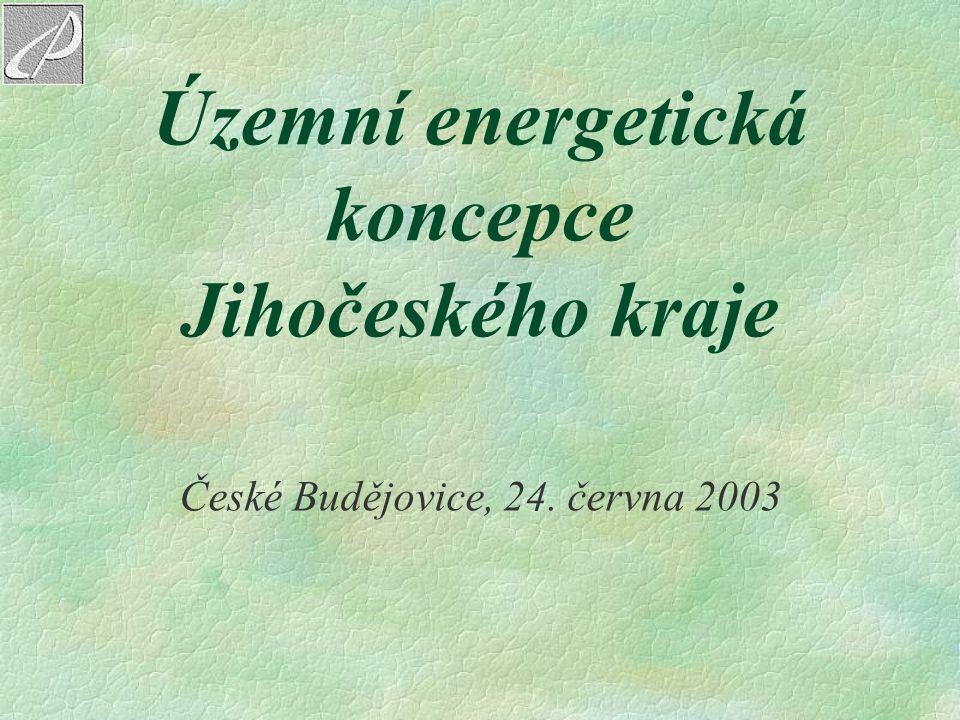Územní energetická koncepce Jihočeského kraje České Budějovice, 24. června 2003