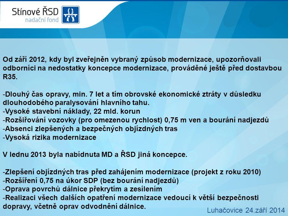 Zásady modernizace podle SRSD var 1 Luhačovice 24.září 2014