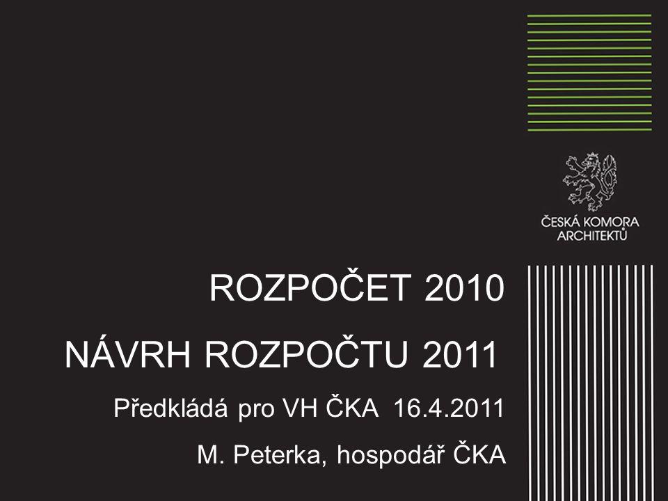 ROZPOČET 2010 – PLÁN XVII.
