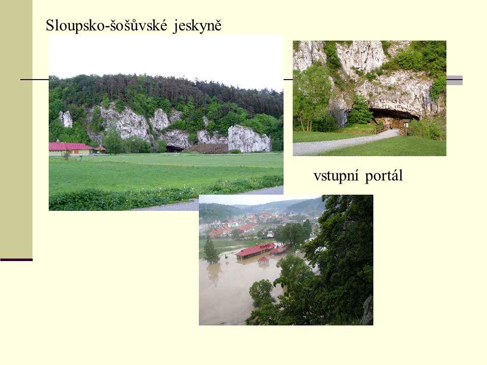 vstupní portál Sloupsko-šošůvské jeskyně
