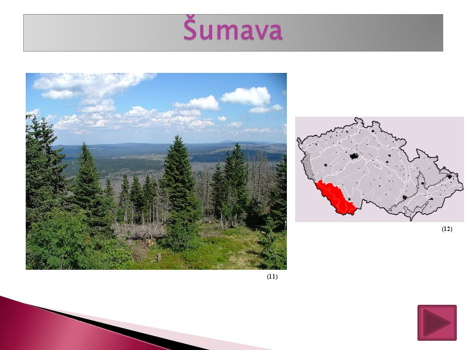 Hornatiny jsou nejvyšší oblasti naší vlasti. Jejich nadmořská výška je nad 900 metrů nad mořem. Nejrozsáhlejší hornatina: Šumava Nejvyšší hornatina: K