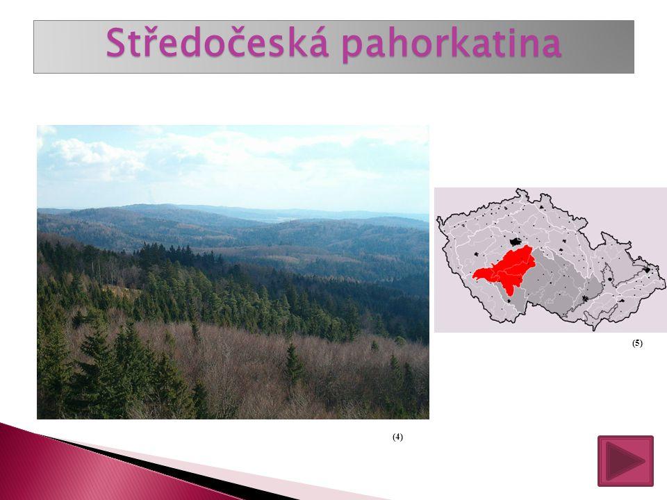 Pahorkatiny tvoří největší část naší vlasti. Jejich nadmořská výška je 300 až 600 metrů nad mořem. Nejrozsáhlejší je: Středočeská pahorkatina