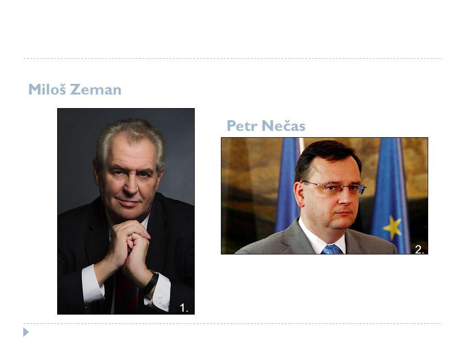 Miloš Zeman Petr Nečas 1. 2.