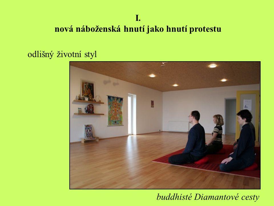 odlišný životní styl I. nová náboženská hnutí jako hnutí protestu buddhisté Diamantové cesty