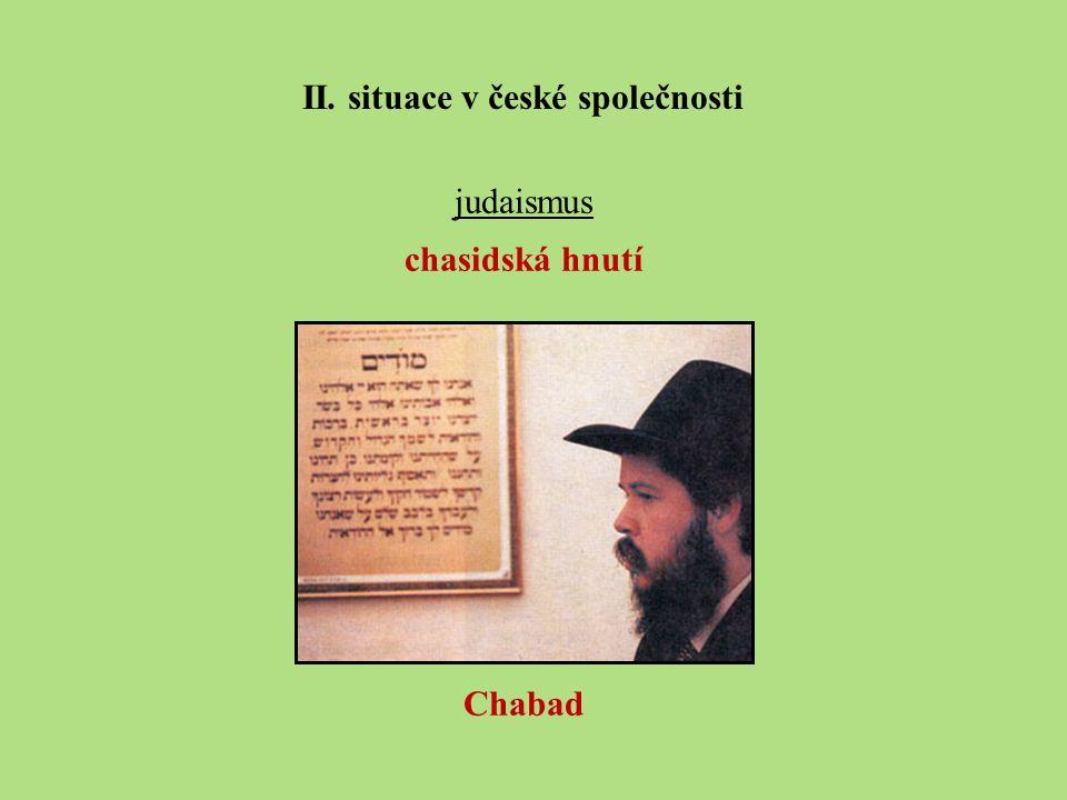 judaismus chasidská hnutí Chabad II. situace v české společnosti