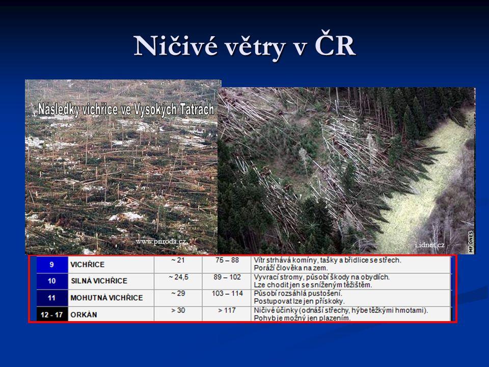 Ničivé větry v ČR www.alpy4000.cz www.priroda.cz i.idnes.cz