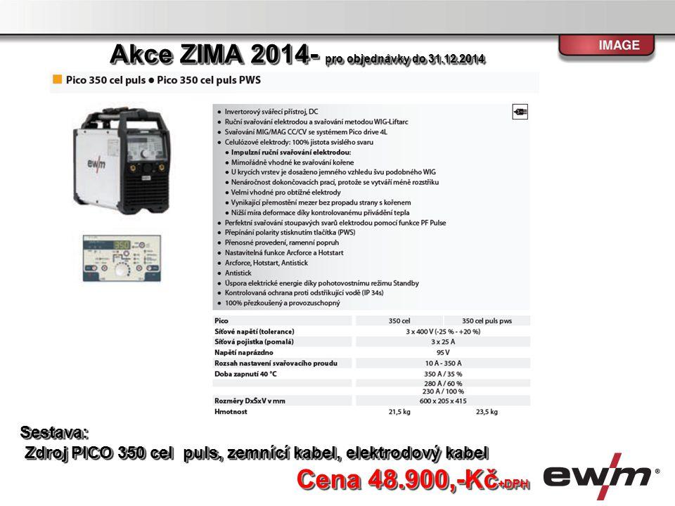 Sestava: Zdroj PICO 350 cel puls, zemnící kabel, elektrodový kabel Zdroj PICO 350 cel puls, zemnící kabel, elektrodový kabelSestava: Cena 48.900,-Kč +