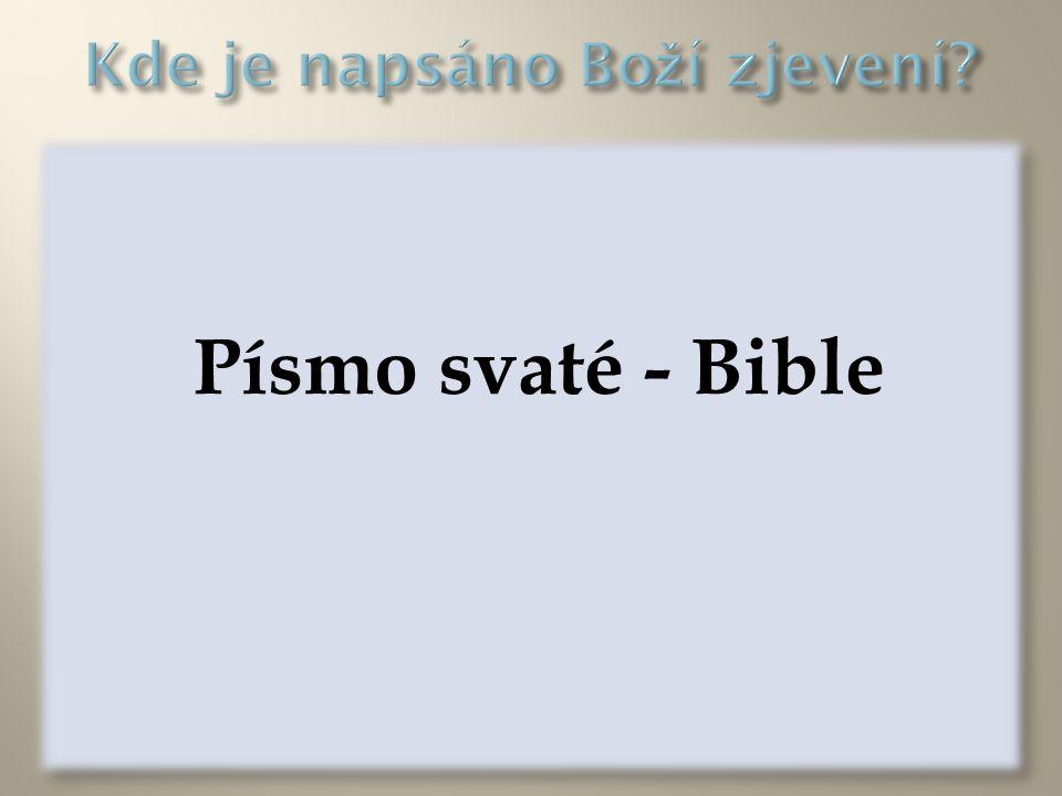 Písmo svaté - Bible