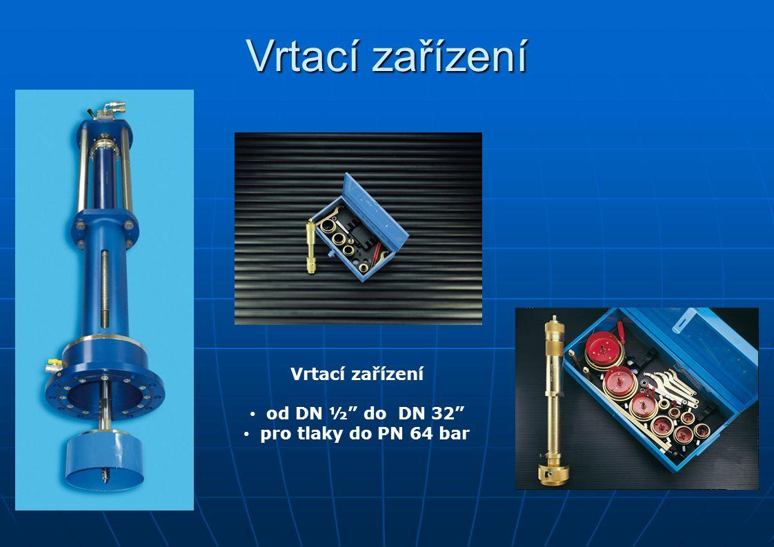 """Vrtací zařízení od DN ½"""" do DN 32"""" pro tlaky do PN 64 bar"""