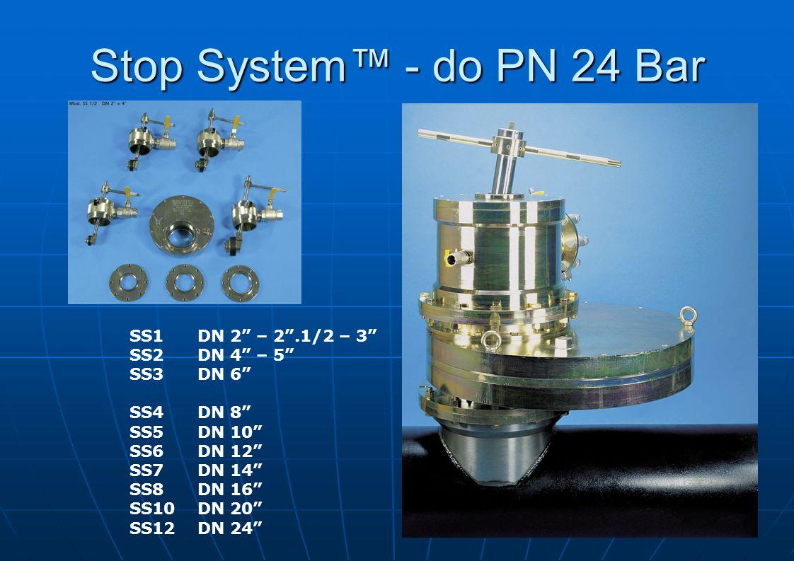 Stop Systém™ manuální obsluha pro provozní tlaky do PN 5 bar Stop Systém™ pro pro tlaky do PN 24 bar Manuální verze & Hydraulická verze