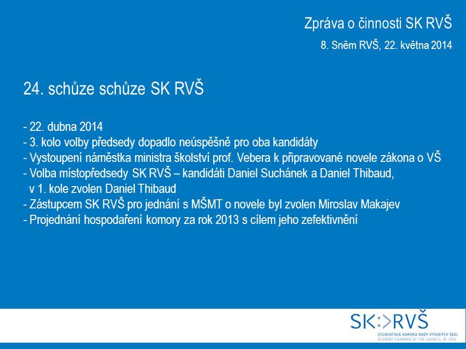24. schůze schůze SK RVŠ - 22. dubna 2014 - 3. kolo volby předsedy dopadlo neúspěšně pro oba kandidáty - Vystoupení náměstka ministra školství prof. V