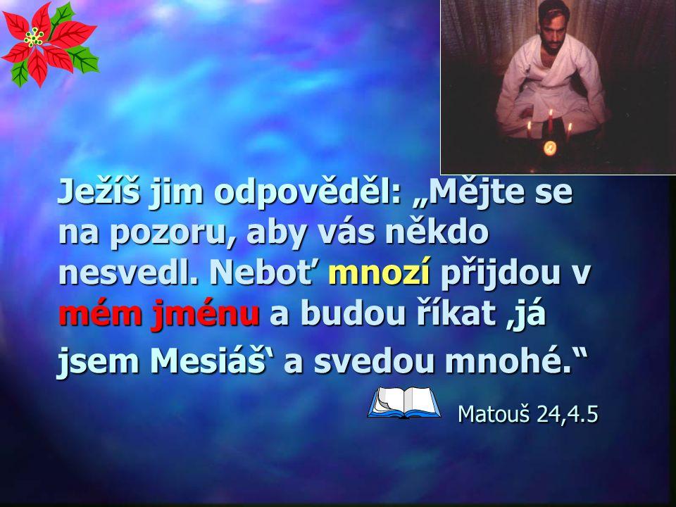 """""""Povstanou lživí proroci a mnohé svedou."""" Matouš 24,11 Vznik nových církví a sekt"""