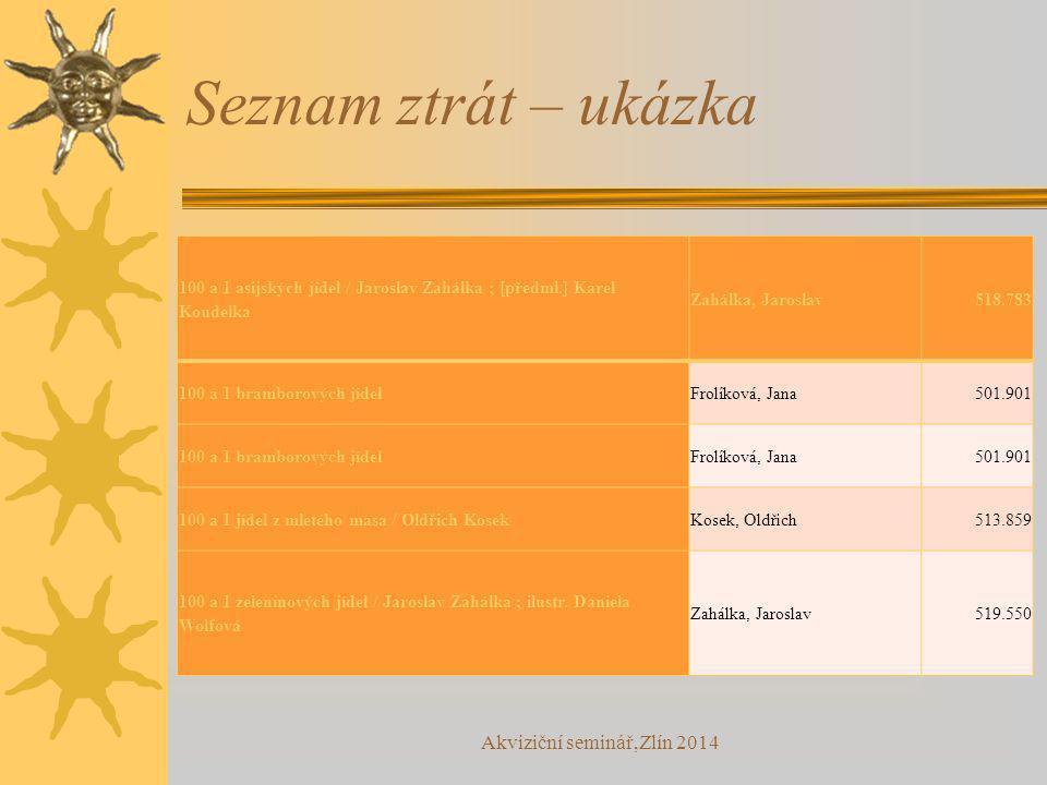 Seznam ztrát – ukázka 100 a 1 asijských jídel / Jaroslav Zahálka ; [předml.] Karel Koudelka Zahálka, Jaroslav518.783 100 a 1 bramborových jídelFrolíko